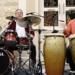 Bobby Sanabria, drums and Matthew Gonzalez, percussion