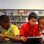 kids using iPads