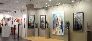 View of some exhibits from the 2012 Contemporary Art Fair NYC