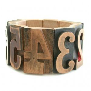 Connie Verrusio Letterpress bracelet