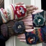 Look At Me Designs gloves of recycled materials