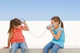 Children playing telephone 1