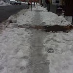 Icy sidewalks
