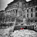 Brooklyn Museum in snow