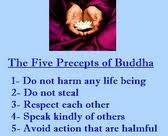 5 precepts of Buddhism