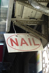 Nail sign for blog