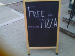 Free Pizza Blackboard