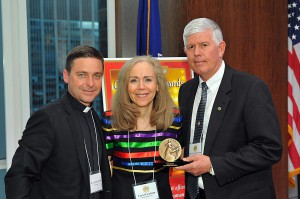 Father Jonathan Morris, Carol Graham, Major General Mark Graham [retired]