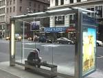 NYC bus shelter
