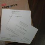 JM Business Card Staples