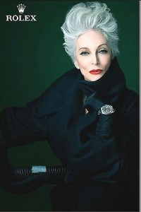 Older woman Rolex