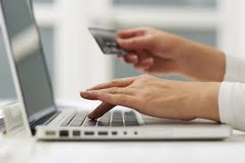 typing in credit card