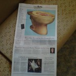 Gold Toilet on NYT page