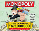 Acme winning Monopoly game board
