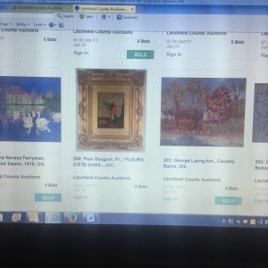Gauguin on Auction Website turned