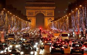 Traffic jam in Paris