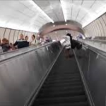 Subway escalator Hudson Yards