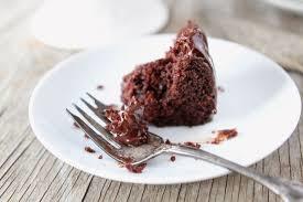 half eated chocolate cake