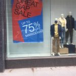 Sale up to 75 percent turned